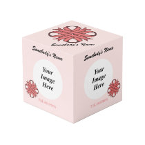 Pink Clover Ribbon Template Cube