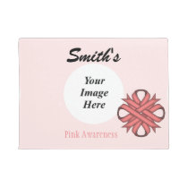 Pink Clover Ribbon Template Doormat