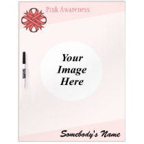 Pink Clover Ribbon Template Dry Erase Board