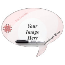 Pink Clover Ribbon Template Dry-Erase Board
