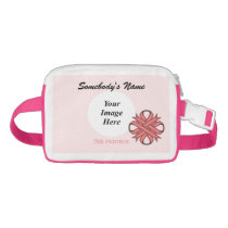 Pink Clover Ribbon Template Fanny Pack