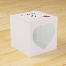 Pink Clover Ribbon Template Favor Box
