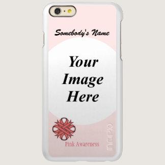 Pink Clover Ribbon Template Incipio Feather Shine iPhone 6 Plus Case