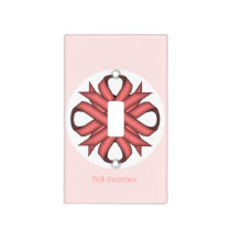 Pink Clover Ribbon Template Light Switch Cover