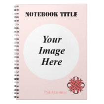 Pink Clover Ribbon Template Notebook