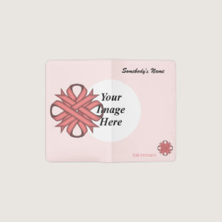 Pink Clover Ribbon Template Pocket Moleskine Notebook