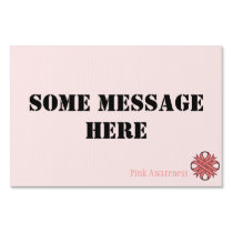 Pink Clover Ribbon Template Sign