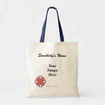 Pink Clover Ribbon Template Tote Bag