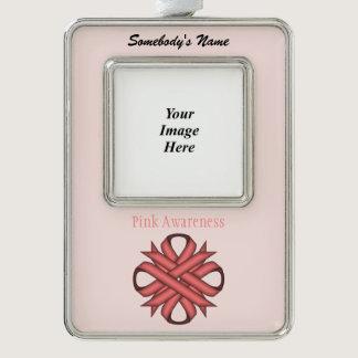 Pink Clover Ribbon Template (V-O) Christmas Ornament