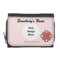 Pink Clover Ribbon Template Wallet