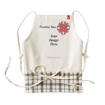 Pink Clover Ribbon Template Zazzle HEART Apron