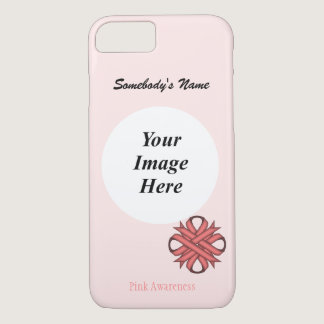 Pink Clover Ribbon Tmpl by Kenneth Yoncich iPhone 7 Case