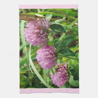 Pink Clover Wildflower - Trifolium pratense Kitchen Towel