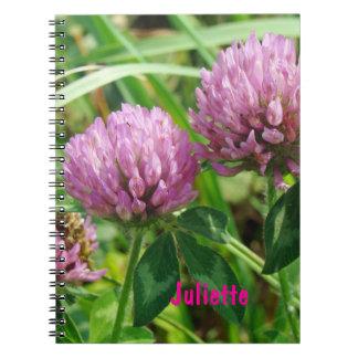 Pink Clover Wildflower - Trifolium pratense Notebook