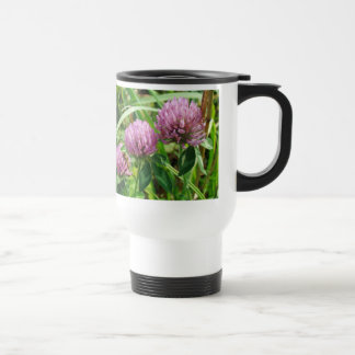 Pink Clover Wildflower - Trifolium pratense Travel Mug