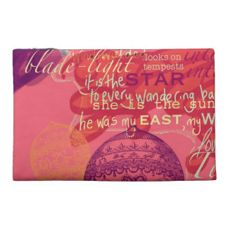 Pink Clutch Shakespeare Love Quotes