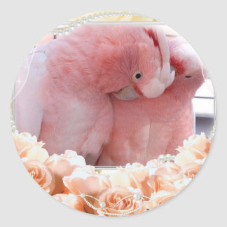 Pink Cockatoos Stickers