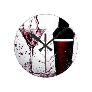 Pink Cocktail 2 Round Wallclock