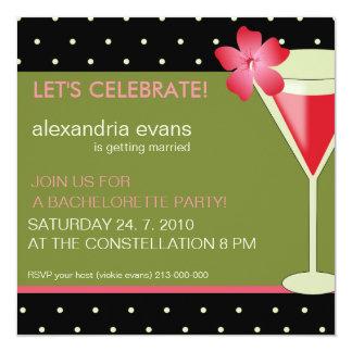 Pink Cocktail Bacherlorette Party Invitations