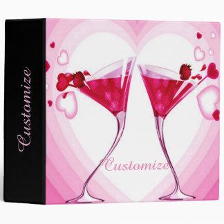 Pink Cocktail Glasses Binder