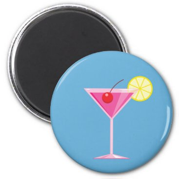 Beach Themed Pink Cocktail Magnet