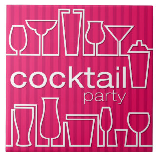 Pink cocktail party ceramic tile