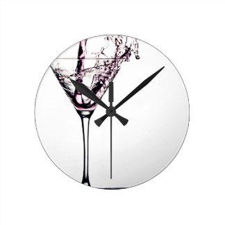 Pink Cocktail Round Clock