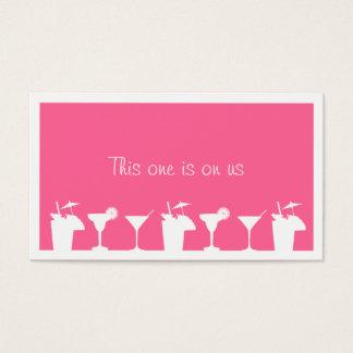 Pink cocktail wedding event custom drink ticket