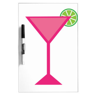 Pink Cocktail With Lime Dry Erase Whiteboards