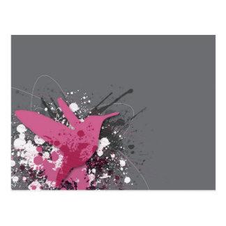 Pink Colibri Postcard