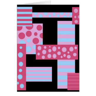 Pink collage card