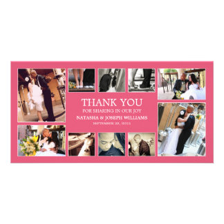 PINK COLLAGE | WEDDING THANK YOU CARD