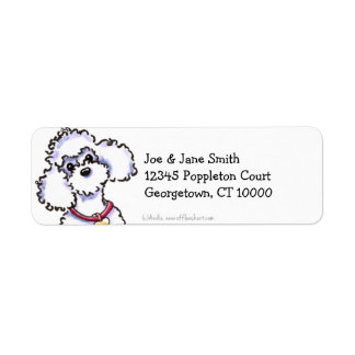 Pink Collar Poodle Clean & Simple Label