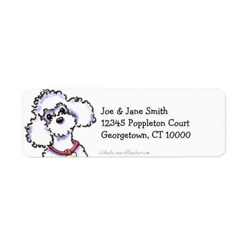 Pink Collar Poodle Clean & Simple Labels