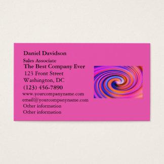 Pink Color Swirl Pop Art Business Card