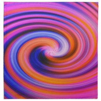 Pink Color Swirl Pop Art Napkin