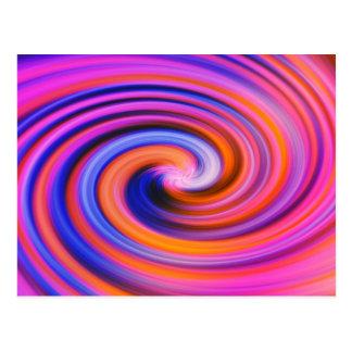 Pink Color Swirl Pop Art Postcard