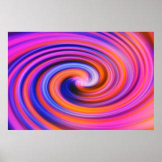 Pink Color Swirl Pop Art Poster