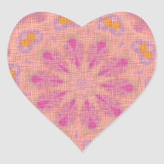 Pink colored pattern heart sticker