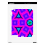 Pink colorful abstract pattern iPad 2 decal