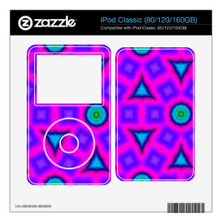 Pink colorful abstract pattern skin for iPod classic
