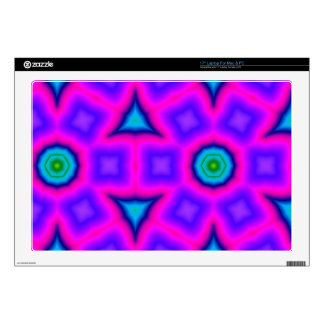 Pink colorful abstract pattern skin for laptop
