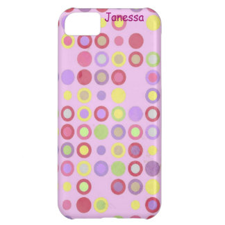 Pink Colorful Cirlces Case For iPhone 5C