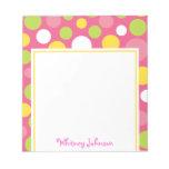 Pink Colorful Polka Dot Notepad