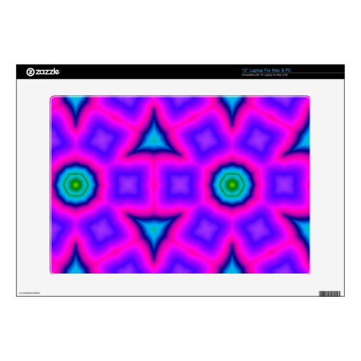 """Pink colorful trendy pattern decal for 15"""" laptop"""