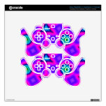 Pink colorful trendy pattern skins for PS3 controllers