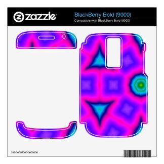 Pink colorful trendy pattern BlackBerry bold skins