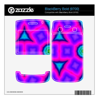 Pink colorful trendy pattern decal for BlackBerry
