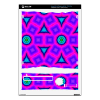 Pink colorful trendy pattern skins for the xbox 360 s