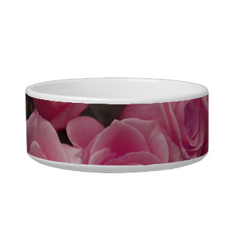 pink colorized rose bouquet Spotted background Pet Food Bowl